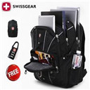 100% Original Waterproof Swiss Gear Men Travel Bags Macbook laptop hike backpack