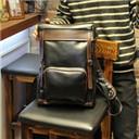Black Brown Men's PU Leather messenger bags brifecase Backpack Bag Laptop Bags