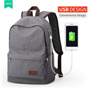 USB Design Backpack Book Bags for School Backpack Man Canvas Casual Rucksack Daypack Computer Laptop Backpacks