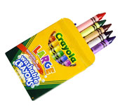 Children Green Crayons