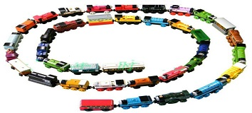 wooden Complete set of car toy train toys