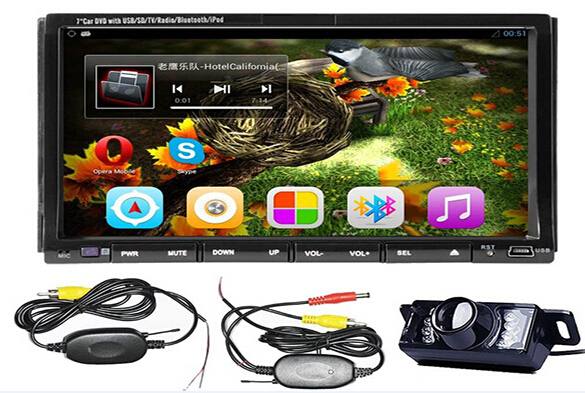 Universal Android 4.4.4 7'' 2Din  DVD Player