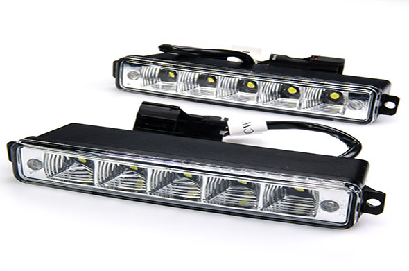 Super White 8 LED Car Daytime Running Light