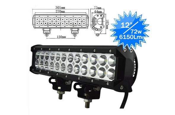72W Waterproof IP68  LED Working Lights