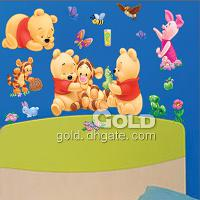 TC- 989 Home Garden Winnie Bear Wall Stickers