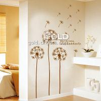 DM57- 0030 Home Garden Dandelion pastoral Wall Stickers
