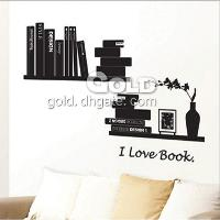 "TC- 2089 Home Garden "" I LOVE BOOK"" Wall Stickers"
