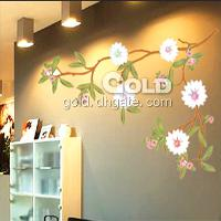 TC- 2005 Home Garden Vine flower Wall Stickers