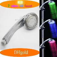Romantic Automatic Control 7- color Change LED Shower Heads