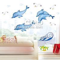 DM35_0005 Dolphin and sea gull wall sticker lx- 349