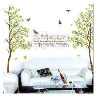 DM69_0022 Mix order Two trees wall sticker 60cm*90cm