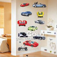 TC_1087 Cars plex colorful children's living room wall stick...