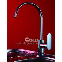 Single zircaloy Handle KitchenBrass Faucet with Ceramic catr...