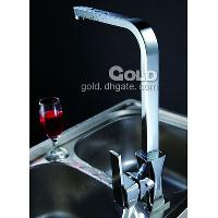 New Kitchen Brass Faucet Chrome Finish with Ceramic catridge