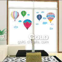 TC_957 DIY fire ballon Children's playroom Wall Sticker