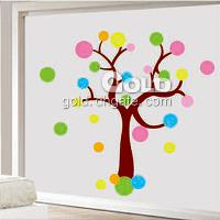 TC_6068 Colorful ball tree wall sticker