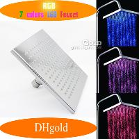 Automatic 7- Color LED Water Glowinging Shower Head Light