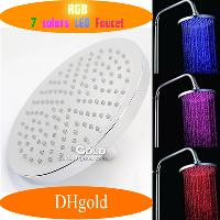 Automatic 7- Color LED Water Glowing Shower Head Light