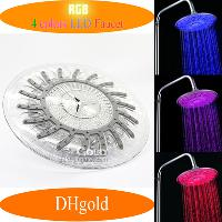 Attractive Automatic 4- Color LED Water Glowinging Shower Hea...