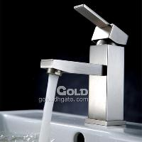Brushed Nickel Finish Single Handle Bathroom Brass Faucet 10...