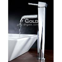 Bathroom Brass Faucet(Chrome Finish) with Single zircaloy Ha...