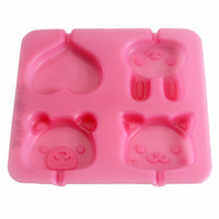 New Arrival Silicone Small Animal Shaped All- in- one Cake Mol...