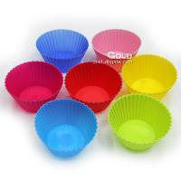 Silicone Colorful Cup Shaped Cake Molds LX- 143