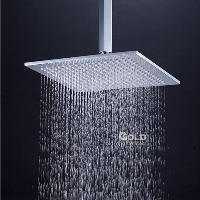 24 inch Square Rainfall Shower Head with Antomatic Color Cha...