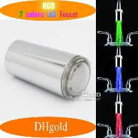7- color Water Glowinging LED Faucet Light Brass Finish (NO B...