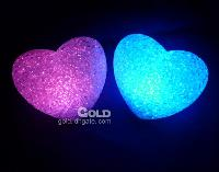 Shine Crystal Colorful Led Night Light Heart- shaped Lamp 12c...