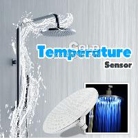 Color Changing Temperature Sensing LED Shower Head (brass)