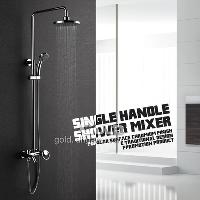 Single Handle Bathroom Rainfall Wall Mounted Shower Sets Bat...