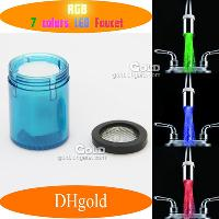 7- Color LED Water Glowinging Sink Faucet Light(NO Battery or...