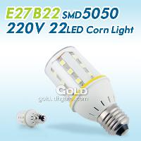 LED Bulbs E27 B22 SMD5050 220V 22 LED 4W Corn Lights Lamp En...