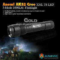 Factory Supply Anowl AK52 Cree XML T6 LED 5- Mode 1000LM Flas...