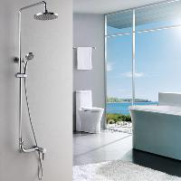 Solid Brass Rainfall Wall Mounted Shower sets Chrome Finish ...