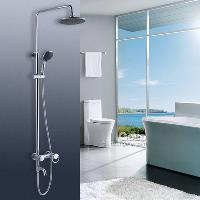 Single Handle Bathroom Rainfall Wall Mounted Shower Faucet S...