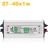 27- 40x1w LED Light Driver Waterproof Power Supply AC85- 265V ...