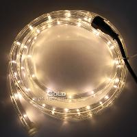 Warm White LED QTY 25pcs m Round- wire LED Rainbow Light Stri...