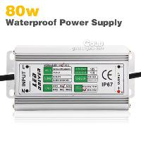80w LED Light Driver Waterproof Power Supply AC85- 265V 1500m...