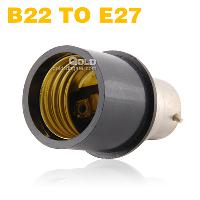 B22 to E27 Adapter Converter Lamp Holder Fire Proof PBT From...