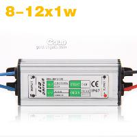 8- 12x1w LED Light Driver Waterproof Power Supply AC85- 265V 3...