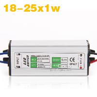 18- 25x1w LED Light Driver with Waterproof Power Supply AC90-...