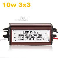 10w 3x3 LED Light Driver Power Supply AC85- 265V 900mA From F...