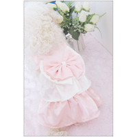 Pet Tiered Skirt with Pink Bow Lovely Dresses