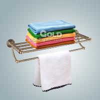 Wall Mounted Towel and Shelf Rack with Extended Strength Bar