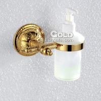 Liquid Soap Dispenser Rack Bathroom Brass Accessories Gold F...