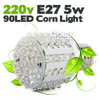 Energy- saving LED Corn Light 220v E27 5w 90LED Light LED Bul...