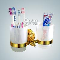 Top Quality Brass Toothbrush Cup Holder(Gold Finish) bathroo...