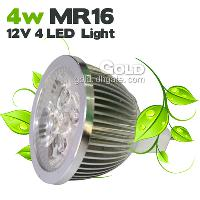 4W MR16 12V 4 LED Lights with 380LM 400LM Pure & Warm Wh...